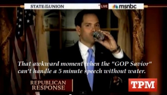 Thirst much Mr. Rubio?