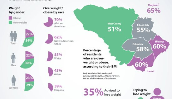Graphic via Howard County Health Survey. http://www.howardcountyhealthsurvey.com/results/healthy-weight-nutrition-and-exercise/